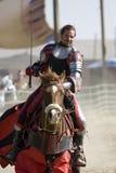 2 faire koniu rycerzy renesansu przyjemności. fotografia stock