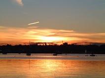 2 fairhaven заход солнца Стоковые Изображения RF