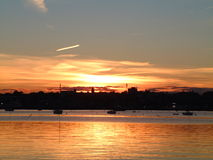 2 fairhaven solnedgång Royaltyfria Bilder