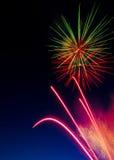 2 fajerwerków niebo Obraz Royalty Free