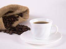 2 fasoli coffe kawa Zdjęcia Stock