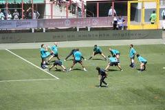 2 fc internazionale Milano w górę nagrzania Zdjęcie Royalty Free