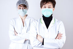 2 female on surgeon Royalty Free Stock Photography