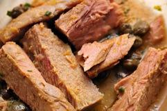 2 filéer stewed tonfisk Royaltyfri Foto