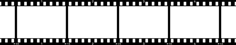 2 filmowej x4 rama Zdjęcia Royalty Free