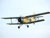 AN-2 on final approach Stock Photography