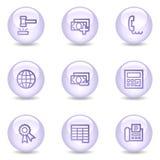 2 finansowych glansowanych ikon perełkowych serii ustawiają sieć Fotografia Stock