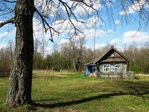 2 finestre rurali della casa Fotografia Stock
