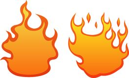 2 fire flames Royalty Free Stock Image