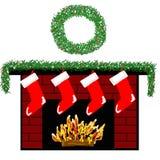2 fireplace holiday Στοκ Εικόνες
