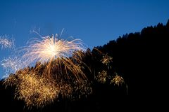 2 fireworks στοκ φωτογραφίες