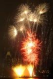 2 fireworks στοκ φωτογραφία