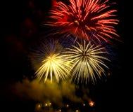 2 fireworks Στοκ φωτογραφία με δικαίωμα ελεύθερης χρήσης