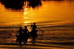 2 fiskare laos Royaltyfri Bild