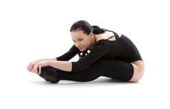 2 fizycznej fitness czarny kostium Zdjęcia Royalty Free