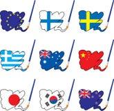 2 flaga farba Zdjęcie Royalty Free