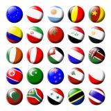 2 flaga ustawiający świat Zdjęcia Stock