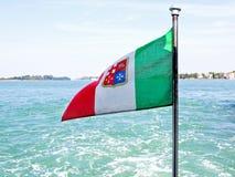 2 flagga italy Fotografering för Bildbyråer