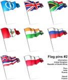 2 flaggastift stock illustrationer
