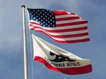 2 flaggor Royaltyfria Bilder