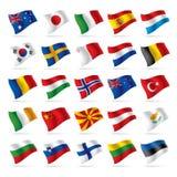 2 flaggor ställde in världen Royaltyfria Foton