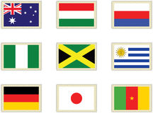 2 flags штемпеля Стоковые Фото