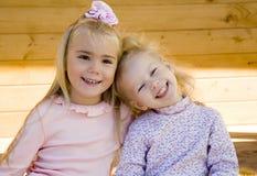 2 flickor två Royaltyfri Fotografi