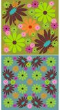 2 floral backgrounds Stock Image