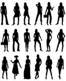 2 folksilhouettes Royaltyfri Bild