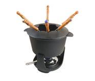 2 fondue set zdjęcie stock