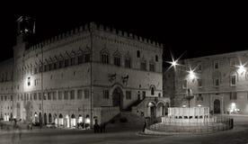 2 fontana maggiore Περούτζια στοκ εικόνες