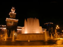 2 fontanna Milan Zdjęcia Stock