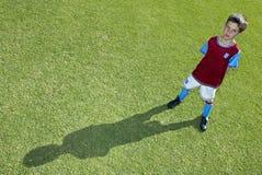 2 footballerbarn Fotografering för Bildbyråer