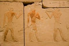 2 forntida egyptiska hieroglyphs Royaltyfria Foton