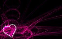 2 fractal serce Obrazy Stock