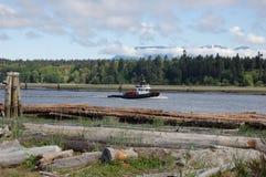 2 fraser rzeki tugboat Fotografia Royalty Free