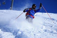 2 freeride滑雪者 库存照片