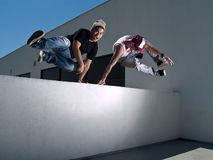 2 freerunners parkour Obraz Stock