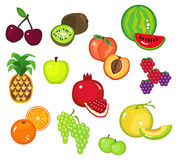 2 fruits pièce divers Photo stock