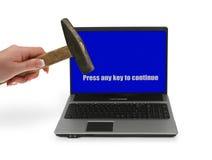 2 frustrerade problem för dator Arkivbilder