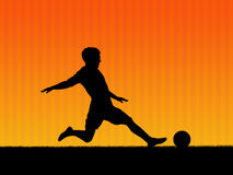 2 futbol tła Obrazy Royalty Free