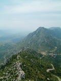 2 Górskich De Chat Queribus widok Obrazy Stock