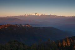 2 góry Sikkim Obraz Royalty Free