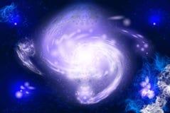 2 galaxy przestrzeń Obraz Royalty Free