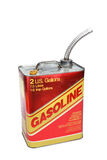 2 gallon gas can. With pour spout royalty free stock photos
