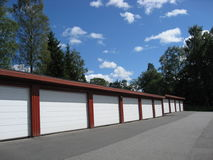 2 garage Royaltyfri Bild