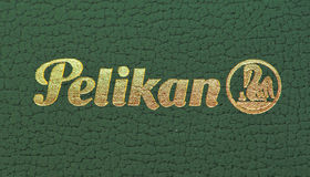 2 gatunków logo pelikan Fotografia Royalty Free