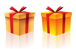2 gift boxes. Isolated on a white background vector illustration