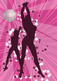 2 girls dancing. 2 sexy girls dancing at disco Royalty Free Stock Photo