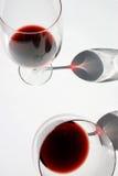 2 glaces de vin Images libres de droits